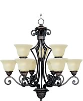  Symphony 9-Light Multi-Tier Chandelier Oil Rubbed Bronze 11245SVOI